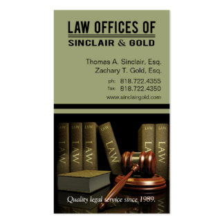 Legal3 Law Offices of Attorney - Lawyer Business Card Template