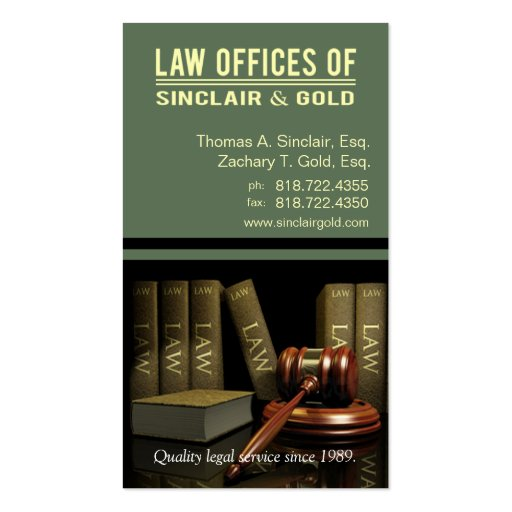 Legal3 Law Offices of Attorney - Lawyer Business Card Templates