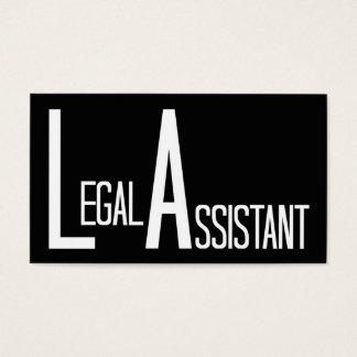 Legal Assistant Black Simple Business Card