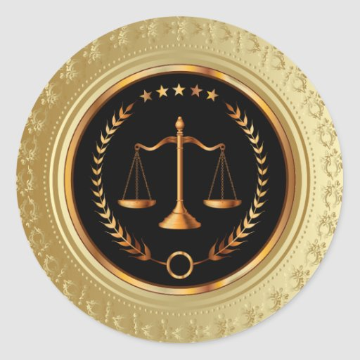 Legal / Attorney / Scales of Justice Sticker - SRF