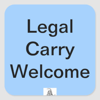 Legal Carry Welcome Sticker