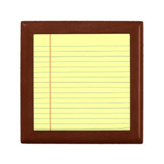 Legal Pad Pattern Gift Box