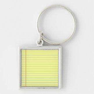Legal Pad Pattern Key Ring
