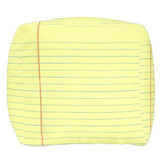 Legal Pad Pattern Pouf