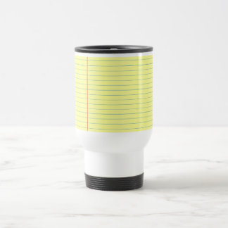 Legal Pad Pattern Travel Mug