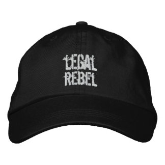 Legal Rebel Hat Embroidered Hats