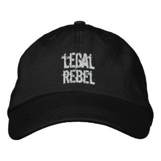Legal Rebel Hat Embroidered Hats
