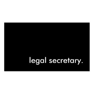 legal secretary. pack of standard business cards