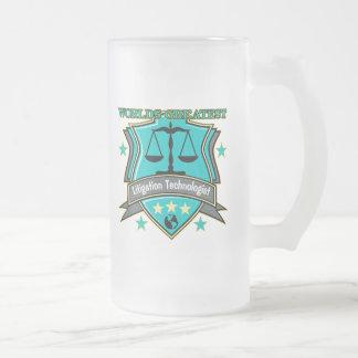 Legal World's Greatest Litigation Technologist Frosted Glass Mug