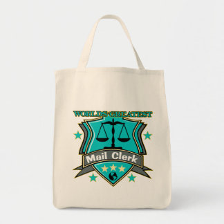 Legal World's Greatest Mail Clerk Grocery Tote Bag