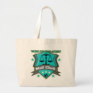 Legal World's Greatest Mail Clerk Jumbo Tote Bag
