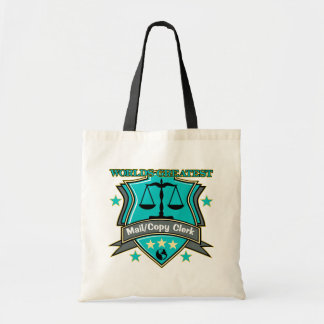 Legal World's Greatest Mail Copy Clerk Budget Tote Bag