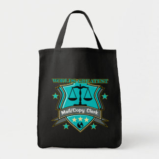 Legal World's Greatest Mail Copy Clerk Grocery Tote Bag