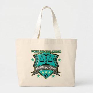 Legal World's Greatest Mail Copy Clerk Jumbo Tote Bag