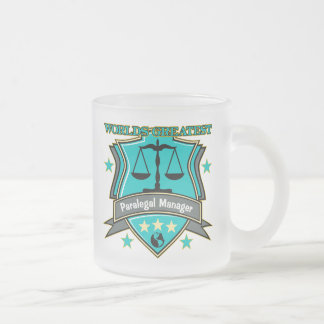 Legal World's Greatest Paralegal Manager Frosted Glass Mug
