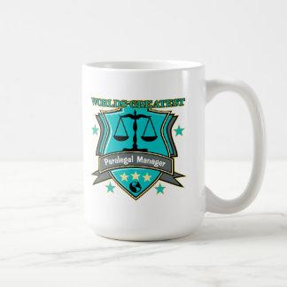 Legal World's Greatest Paralegal Manager Basic White Mug