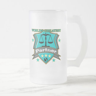 Legal World's Greatest Partner Frosted Glass Mug