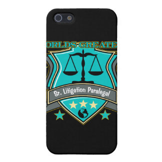 Legal World's Greatest Sr. Litigation Paralegal iPhone 5 Covers