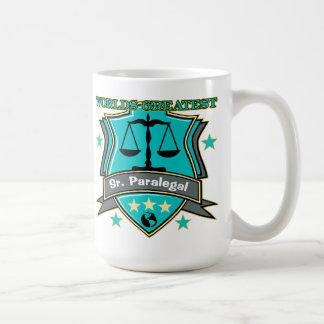 Legal World's Greatest Sr. Paralegal Basic White Mug