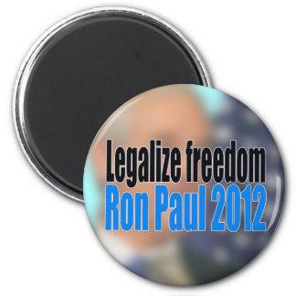 Legalise Freedom Ron Paul 2012 Fridge Magnet