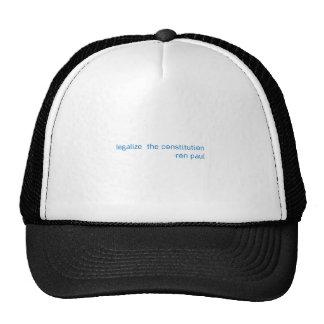 LEGALIZE TRUCKER HATS