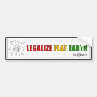 Legalize Flat Earth Bumper Sticker