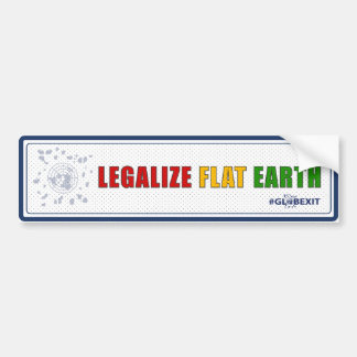 Legalize Flat Earth Bumper Sticker (blue)