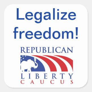 Legalize Freedom RLC stickers