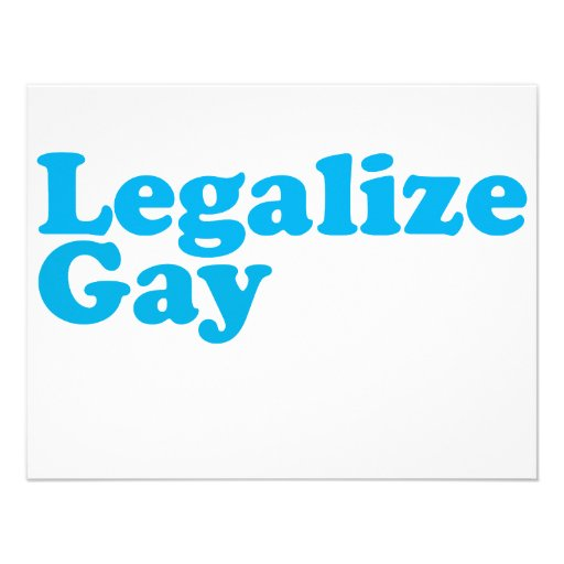 Legalize gay baby blue custom announcements