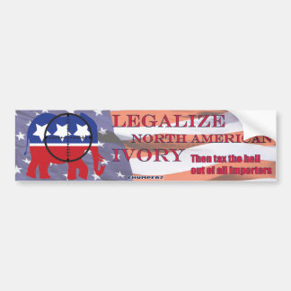 Legalize GOP Ivory bumper sticker