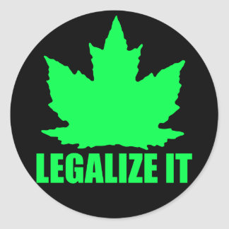 Legalize Maple Classic Round Sticker