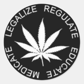 Legalize-Regulate Classic Round Sticker