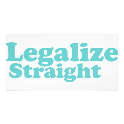 Legalize straight blue customized photo card