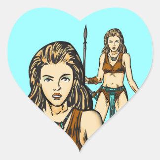 Legend Of Amazon Women Heart Sticker