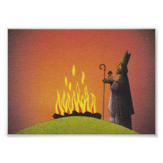 Legend of Saint Patrick and the Paschal Fire Poster