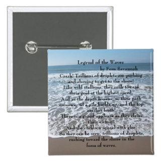 Legend of the Waves - Fern Savannah; Button / Pin