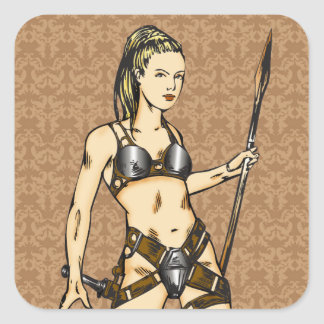 Legendary Amazon Women Square Sticker