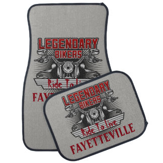 Legendary Bikers Ride To Live (Any City Name) Floor Mat