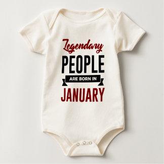 Legendary Born In January Babies Birthday Baby Bodysuit