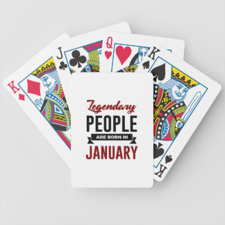 Legendary Born In January Babies Birthday Bicycle Playing Cards