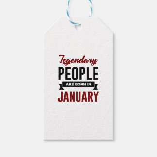 Legendary Born In January Babies Birthday Gift Tags