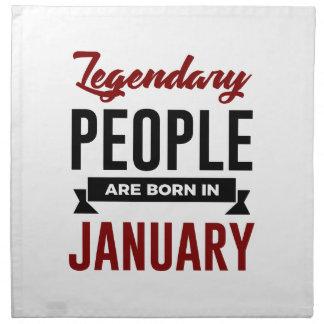 Legendary Born In January Babies Birthday Napkin