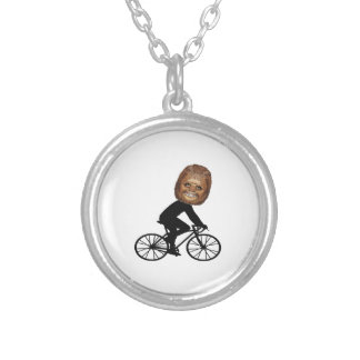 Legendary Cyclist Silver Plated Necklace