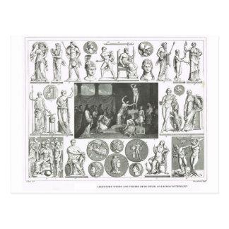 Legendary figures from Greek and Roman Mythology Postcard