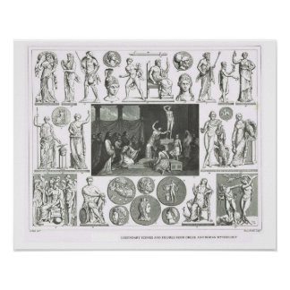 Legendary figures from Greek and Roman Mythology Poster