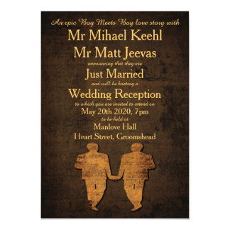 Legendary Love Gay Wedding Reception Invitation