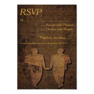 Legendary Love Gay Wedding RSVP Card