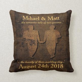 Legendary Love Grooms Pillow Gay Wedding Gift