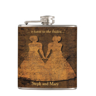 Legendary Love Hipflask Lesbian Wedding Gift Hip Flask