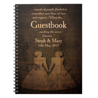 Legendary Love Story Lesbian Wedding Guestbook Notebook